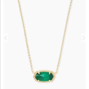 Kendra Scott Elisa Gold Pendant In Emerald